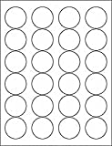 (6 SHEETS) 144 1-2/3 INCH ROUND CIRCLE WHITE