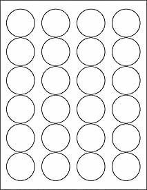 6 SHEETS 144 1 2 3 INCH ROUND CIRCLE WHITE STICKERS FOR