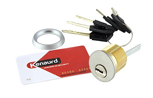Kenaurd High Security Rim/Mortise Solid Brass Cylinder Combo - 1-1/8″ - ()