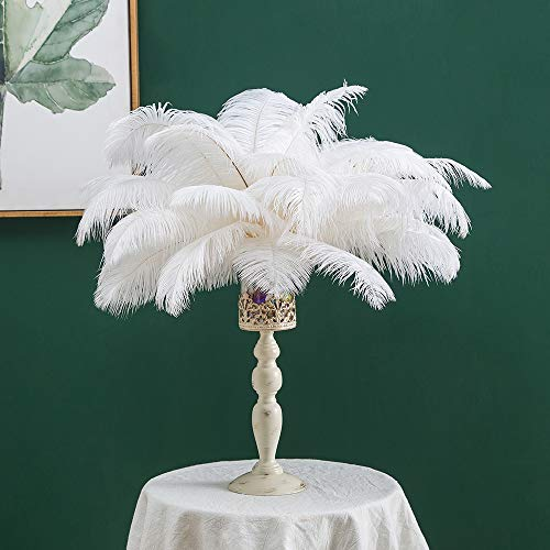16-18inches (40~45cm) Real Natural White Ostrich Feathers Great