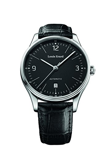 Louis Erard Men's Heritage Black Dial 69287AA02.BAAC82 Black croco strap