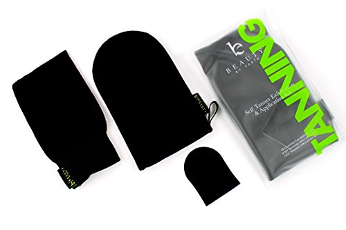 Tanning Mitt Applicator Set - Self Tanner Mitt, Exfoliating Gloves and Face Applicator Kit for Use With Sunless Tanning Lotion, Fake Tan, Self Tanning Lotion for Streak Free Application