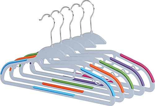 Light-weight Clothes Hangers (30 Pack) Non-slip Durable Clothes Hanger - Plastic Hangers - By Utopia Home