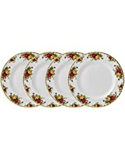 Old Country Roses by Royal Albert Set of 4 Fine China Dinner Plates