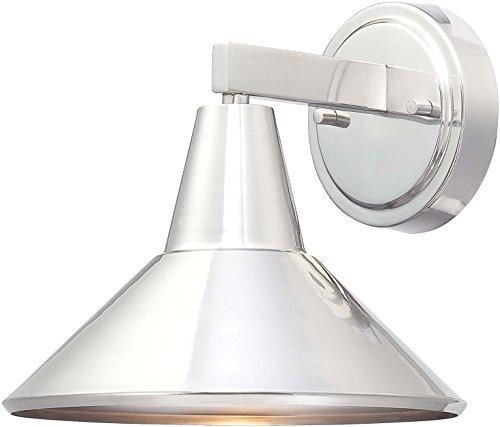 Minka Lavery Modern Outdoor Wall Light 72211-A144 Baycrest Dark Sky Exterior Wall Lantern, 60 Watts, Brushed Aluminum