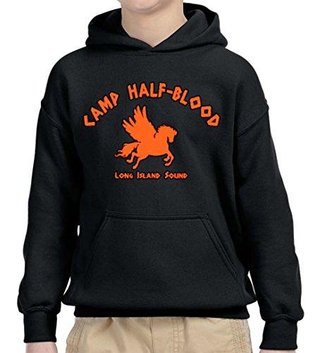 New Way 798 - Youth Hoodie Camp Half-Blood Long Island Sound Demigods Unisex Pullover Sweatshirt Large ()