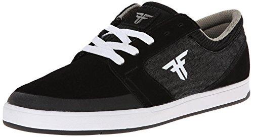 Fallen Torch Genuine Skate Shoe,Black/Black Denim,9.5 M US