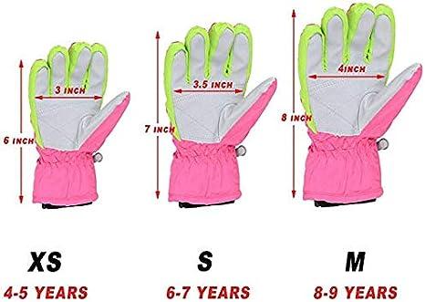 Kids Snow Ski Gloves Boy Girl Winter Waterproof Children Outdoor Toddler Cold Weather Snowboard Gloves