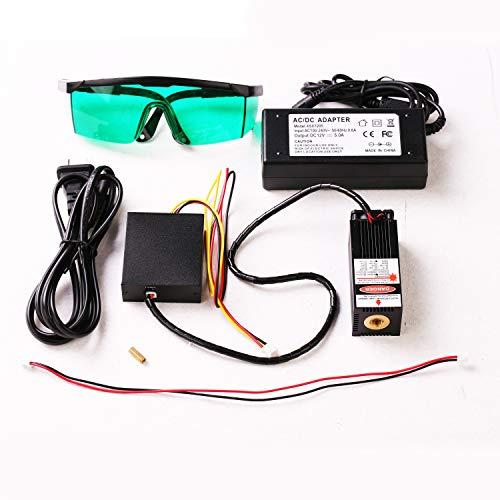 Blue Laser Module 405nm/450nm 500mW/2.5W/5.5W/10W/15W Focusable for 3D Printer/CNC Engraving/Laser Engraving (10W-V2)