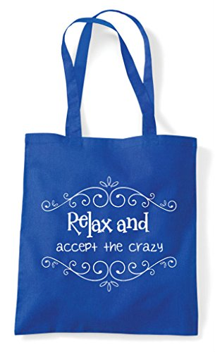 Royal And The Crazy Shopper Tote Blue Relax Bag Accept dOq0wxqAT