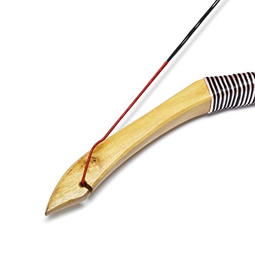 KAINOKAI Traditional Handmade Longbow Horsebow Hunting Recurve Archery Bow Recurve Bow Set (Red Dragon, 40.0 Pounds)