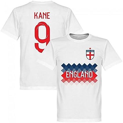 RE-TAKE(リテイク) No.9 ケイン イングランド代表 2018 Team Tシャツ(ホワイト) (インポートS)