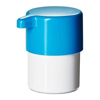 IKEA LOSJON - Dispensador de jabón, blanco / azul