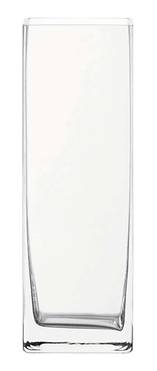 handgefertigtes Klarglas Leonardo Column Kastenvase B//H//T: 10,5//30//10,5 cm 014137