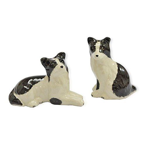 (CinMin Ceramic Puppy Dog Salt and Pepper Shaker 2 Piece Set)