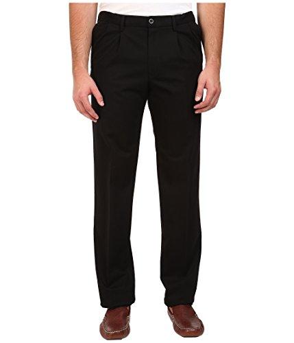 Dockers Mens Big and Tall Signature Stretch Khaki Pleated Pant - Black (42W x 34L) [Apparel]