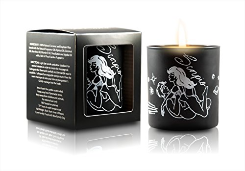 Black Cake Zodiac Best Selling Soy Massage Candles, Sex Positions Candles With Exotic And Romantic Fragrance 8 Oz Hand Poured (USA Made) Aromatherapy Candles (Scorpio)