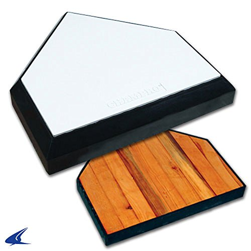Champro In-Ground Home Plate with Solid Wood Bottom PRO BASEBALL SOFTBALL RUBBER by CHAMPRO