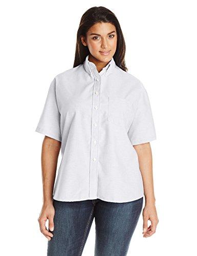 - Red Kap Women's Plus Size Executive Oxford Shirt, White, 26