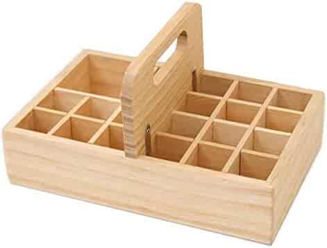 Essential Oils Storage Wooden Box - with 21 Slots for 5-100ml Bottles, Essential Oils Wooden Case Perfect for Display & Presentation