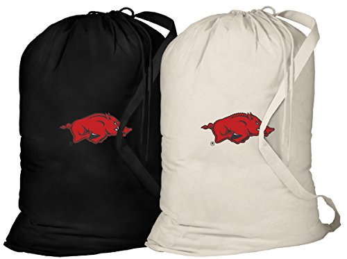 University of Arkansas Laundry Bag -2 Pc Set- Arkansas Clothes Bags ()
