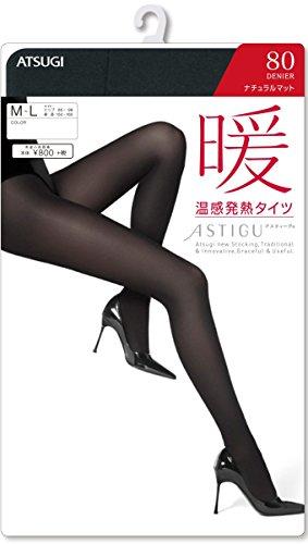 クリーナー変更可能幻想的(アツギ)ATSUGI ASTIGU 【暖】 温感発熱タイツ 80 FP8082 M-L ブラック(480)