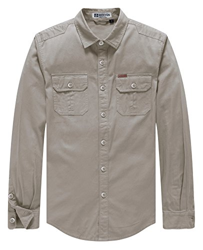 eeve Cargo Work Shirt Jacket(Brown,Small) (Twill Cargo Jacket)