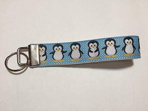 Adorably Cute Penguins Handmade Wristlet Keychain