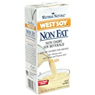 Westbrae Natural Westsoy Non Fat Soy Beverage, 32 Ounce (Pack of 12)