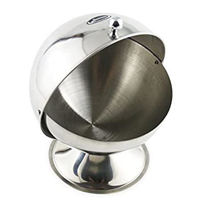 Newness Stainless Steel Multi-purpose Sugar Bowl with Roll Top for Home & Kitchen
