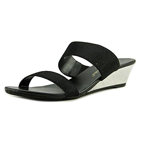 Athena Alexander Womens Besteden Het Open Teen Casual Platform Sandalen Zwart