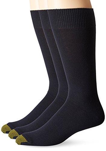 Gold Toe Men's 3-pack Micro Flat Knit Crew Socks