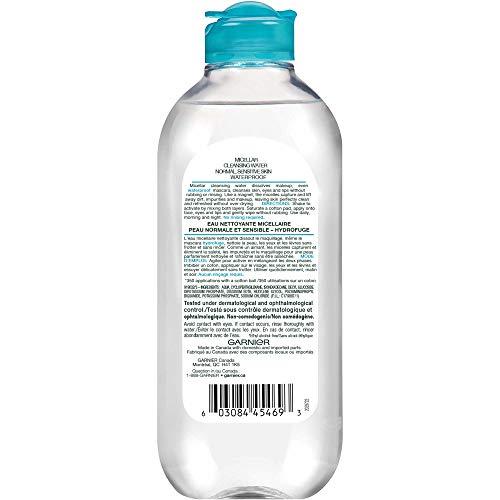 Garnier SkinActive Micellar Cleansing Water, For Waterproof Makeup, 13.5 Fl Oz