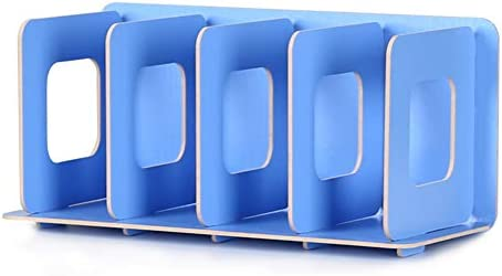 CD-Rack Holz Aufbewahrung Creative Display Ständer DVD Film Rack DIY Organizer blau