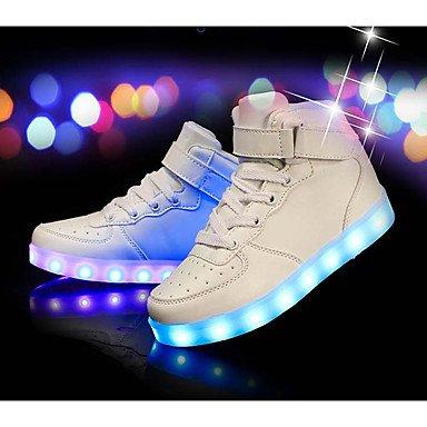 5 Flat UK7 scarpe Athletic Light PU da rosso oro bianco Toddle EU25 5 ragazza Aemember US8 calzature Heelled comfort Up invernale nero argento RzUqxwv0f