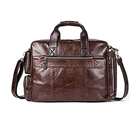 Mens Genuine Leather Briefcase Business Messenger Shoulder Bag Attache Case Tote Portfolio