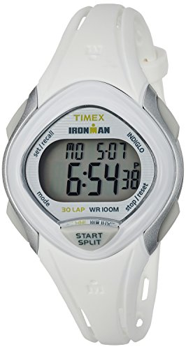 Timex Women's TW5M12400 Ironman Sleek 30 White Resin Strap Watch