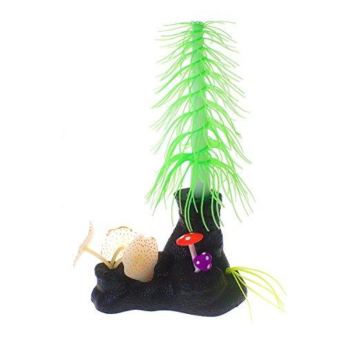 Saim Aquarium Artificial Decorative Christmas Tree with Mushroom Coral Plants Ornament Decor for Fish Tank Decorations, Green by Saim