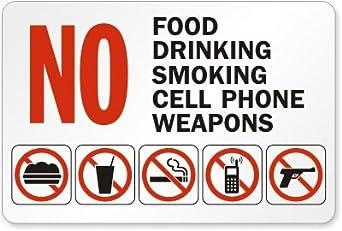 Amazon.com: Sin comida, sin beber, no fumar, sin teléfonos ...