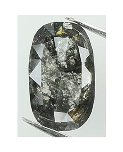 Natural Loose Diamond Oval Black Salt and Pepper Color I3 Clarity 6.50 MM 0.57 Ct KR1808