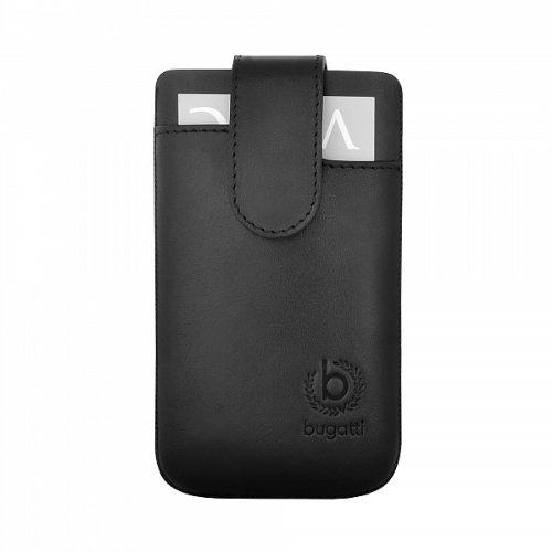 SlimCase Leather Leder Premium Tasche Case schwarz von bugatti passend für Apple iPhone 5
