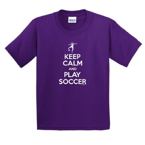 Keep Calm Soccer Youth T Shirt