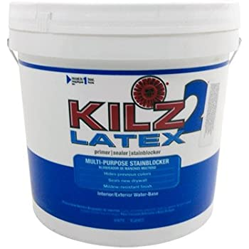 Kilz 2 2 gal white water based latex multi surface interior exterior primer sealer and stain for Kilz kilz 2 interior exterior latex primer