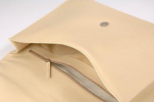 diboni Aktenmappe crema, Stivali donna Beige beige L 37 cm, B 5,5 cm, H 29 cm