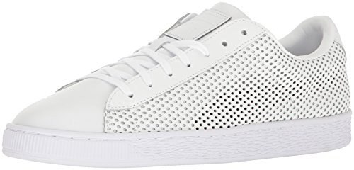 PUMA Men's Basket Classic Summer Shade Fashion Sneaker, White, 11 M US