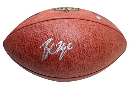 (BAKER MAYFIELD Autographed Cleveland Browns Authentic NFL Football STEINER)