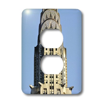 3dRose LLC lsp_10266_6 The Chrysler Building is an Art Deco skyscraper in New York City located on The East Street, 2 Plug Outlet Cover -