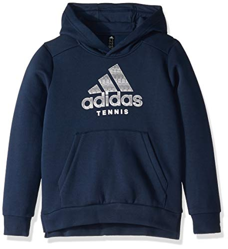 adidas Juniors' Club Tennis Hoodie, Collegiate Navy/White, Medium