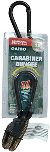 Highland (9419000) 18'' Camouflage Carabiner Bungee Cord by Highland (Image #1)
