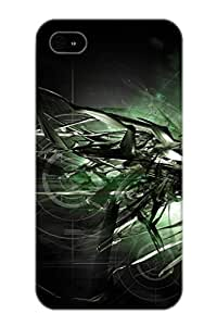 Perfect Fit Heoitn-3612-izqdpcx Abstract Green Magnus Color Shades Pattern Texture Shapes Abstract Vampire Japan Artistic Case For Iphone 4/4s With Appearance